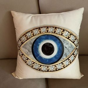 NWOT Evil Eye pillow